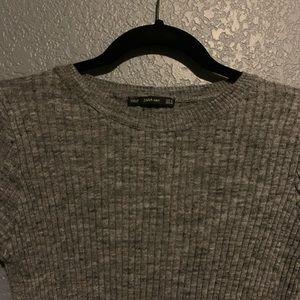 Zara double side slit top